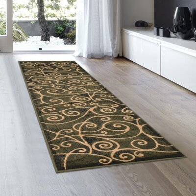 Whitaker Sage Green Area Rug Rug Size: Runner 2 x 72