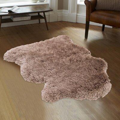 Devyn High-Quality Faux Sheep Non-Shedding Ultra-Soft Solid Shaggy Polar Bear Body Beige Area Rug