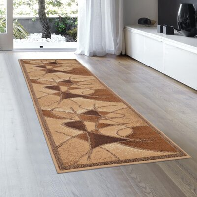 Schaefer Brown Area Rug Rug Size: Runner 2 x 72