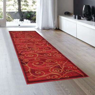 Whitaker Red Area Rug Rug Size: Runner 2 x 72