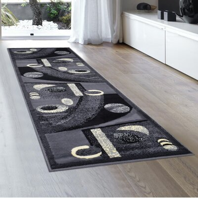 Norman Gray Area Rug Rug Size: Runner 2 x 72