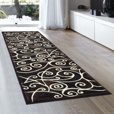 Whitaker Black Area Rug Rug Size: Runner 2 x 72