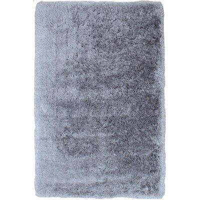 Kearse Faux Sheepskin Silver Area Rug Rug Size: 76 x 102