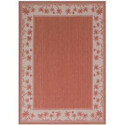 Granada Terracotta Indoor/Outdoor Area Rug Rug Size: 5 x 7