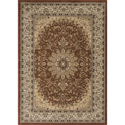 Arison Brown Area Rug Rug Size: 53 x 75
