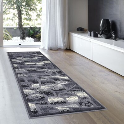 Warren Gray Area Rug Rug Size: 52 x 72