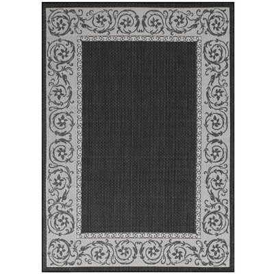 Annapolis Black Indoor/Outdoor Area Rug Rug Size: 710 x 102