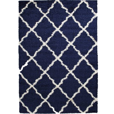 Kavanagh High-Pile Posh Shaggy Denim Area Rug Rug Size: 5 x 7