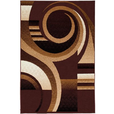 Parsons Dark Brown Area Rug Rug Size: 77 x 106