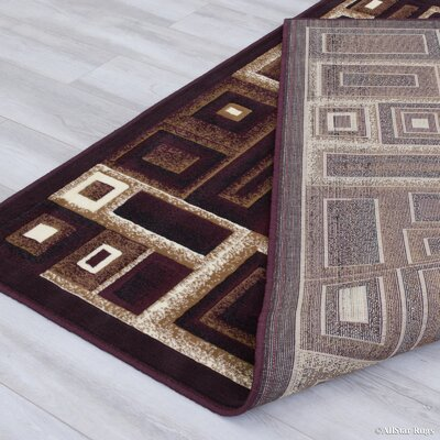 Black/Beige Area Rug Rug Size: Rectangle 39 x 51