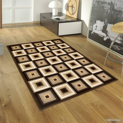 Chocolate Area Rug Rug Size: Rectangle 52 x 72