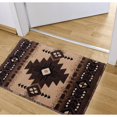 Iberide High-Quality Woven Native American Runner Double Shot Drop-Stitch Carving Doormat Color: Berber