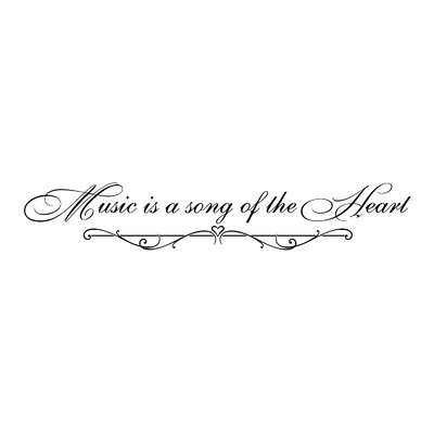 Music is a Song of the Heart Wall Decal Color: Black I-179-BK