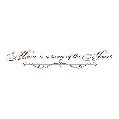 Music is a Song of the Heart Wall Decal Color: Chocolate I-179-CH