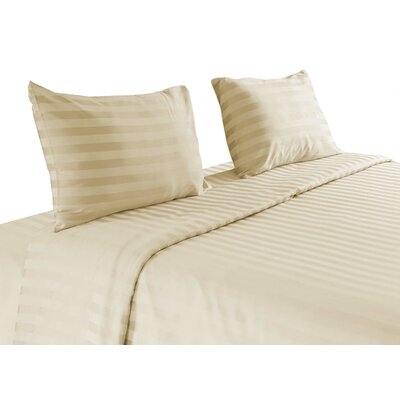 500 Thread Count 100 % Egyptian Quality Cotton Sheet Set Color: Ivory, Size: King
