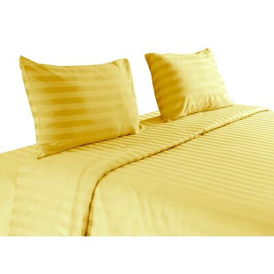 500 Thread Count 100 % Egyptian Quality Cotton Sheet Set Size: Queen, Color: Gold