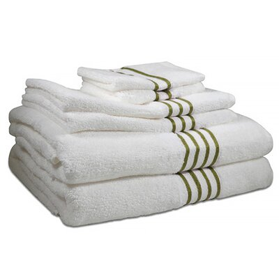 6 Piece Towel Set Color: Palm Tree Green
