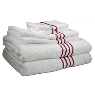 6 Piece Towel Set Color: Berry