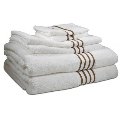 6 Piece Towel Set Color: Warm Taupe
