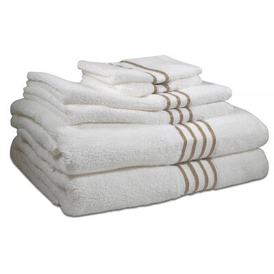 6 Piece Towel Set Color: Sanddollar