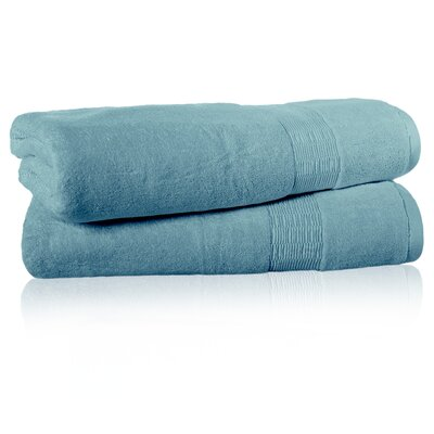 Low Twist Bath Sheet Color: Ocean Tide