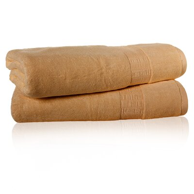 Low Twist Bath Sheet Color: Cappuccino