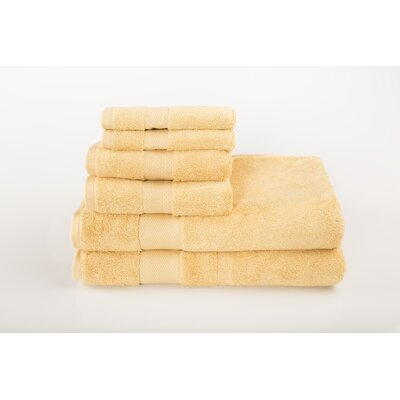 Cloud Zero 6 Piece Towel Set Color: Sahara