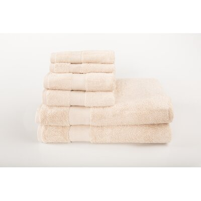 Cloud Zero 6 Piece Towel Set Color: Ivory