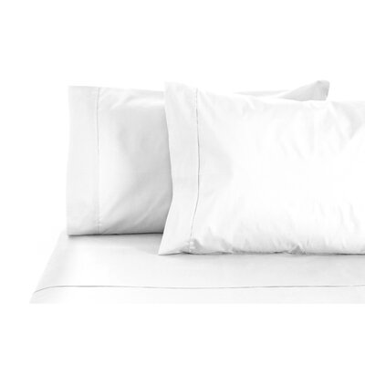 300 Thread Count 100% Egyptian Organic Cotton Sheet Set Color: White, Size: Queen