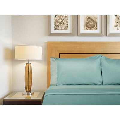 Designer Duo Reversible 300 Thread Count Sheet Set Size: Full, Color: Turquoise / Teal