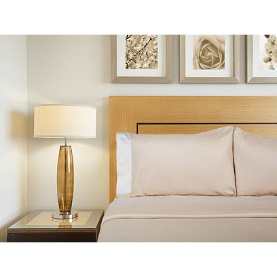 Designer Duo Reversible 300 Thread Count Sheet Set Size: Full, Color: Moon / Atmosphere