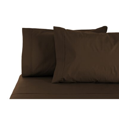 350 Thread Count 100% Egyptian Organic Cotton Sheet Set Size: Full, Color: Chocolate