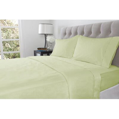 410 Thread Count 100% Cotton Fitted Sheet Size: Twin, Color: Willow