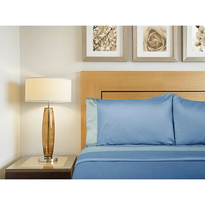 Designer Duo Reversible 300 Thread Count Sheet Set Size: Full, Color: Blue / Ice
