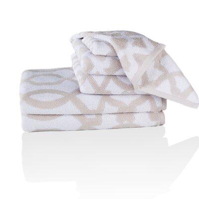 Jet Setter Iman Morocco Jacquard 6 Piece Towel Set