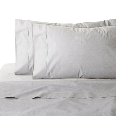 200 Thread Count 100% Cotton Sheet Set Color: Silver, Size: King