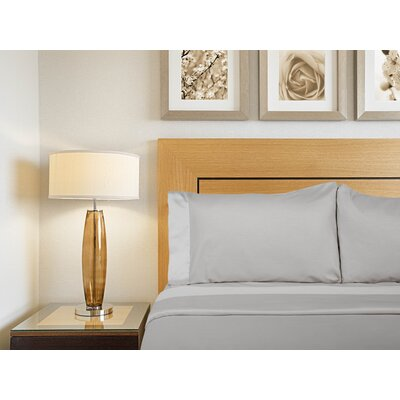 Designer Duo Reversible 300 Thread Count Sheet Set Size: Queen, Color: White / Fog