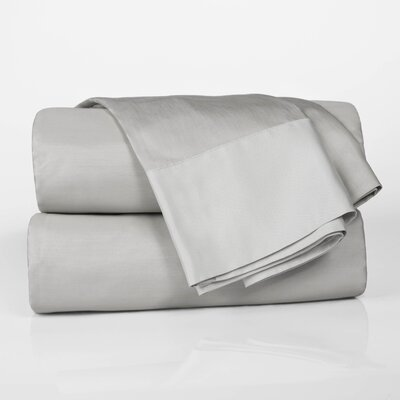 Designer Duo Reversible 300 Thread Count Sheet Set Size: King, Color: White / Fog