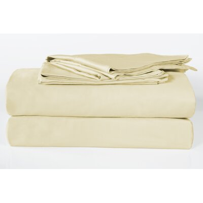 Banyan 325 Thread Count 100% Organic Cotton Sheet Set Size: Queen, Color: Latte