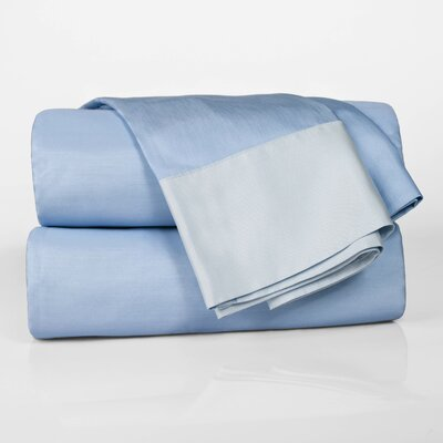 Designer Duo Reversible 300 Thread Count Sheet Set Size: Queen, Color: Blue / Ice