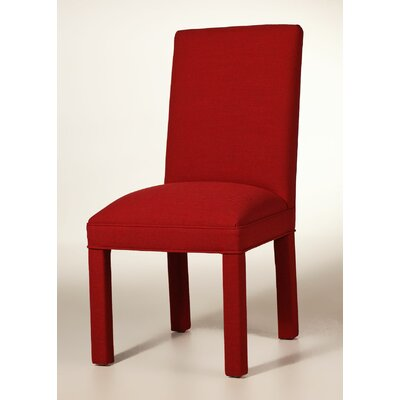 Brook Solid Upholstered Dining Chair Upholstery: Red