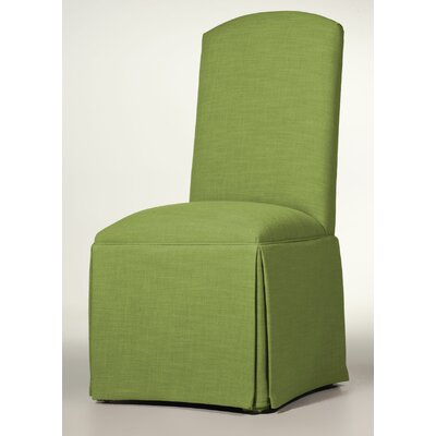 Hadley Skirted Parsons Chair Upholstery: Lime