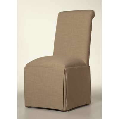 Arvidson Solid Back Skirted Upholstered Dining Chair Upholstery: Tan