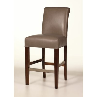 Hunter 26 Bar Stool Base Finish: Brown Cherry, Upholstery: Mushroom
