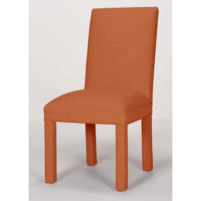 Brook Solid Parsons Chair Upholstery: Orange