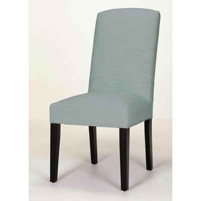 Asbury Upholstered Dining Chair Leg Color: Dark Walnut, Upholstery Color: Sapphire