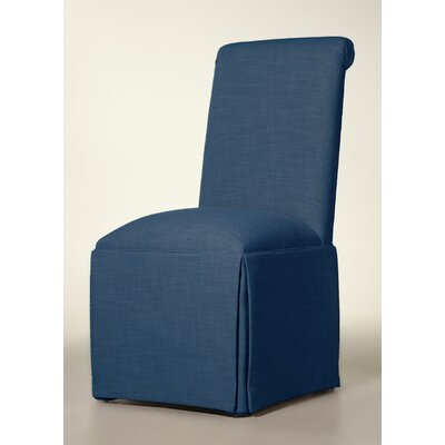 Arvidson Solid Back Skirted Upholstered Dining Chair Upholstery: Sapphire