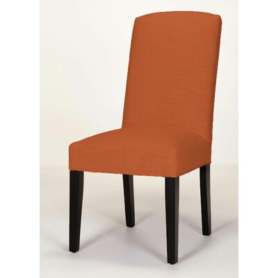 Anderson Side Chair Base Finish: Brown Cherry, Upholstery: Orange