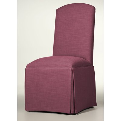 Lamoille Traditional Skirted Upholstered Dining Chair Upholstery: Fuchsia