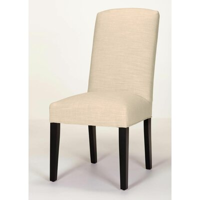 Anderson Side Chair Base Finish: Dark Walnut, Upholstery: Cream